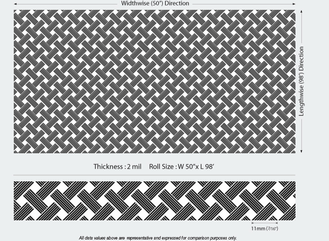 Diagonal-Thatch-Etched